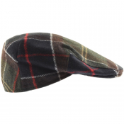 Barbour Gallingale Tartan Flat Cap Green